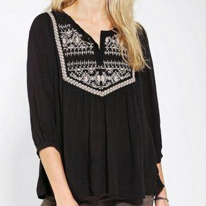 Ecote UO | Embroidered Gauze Tunic
